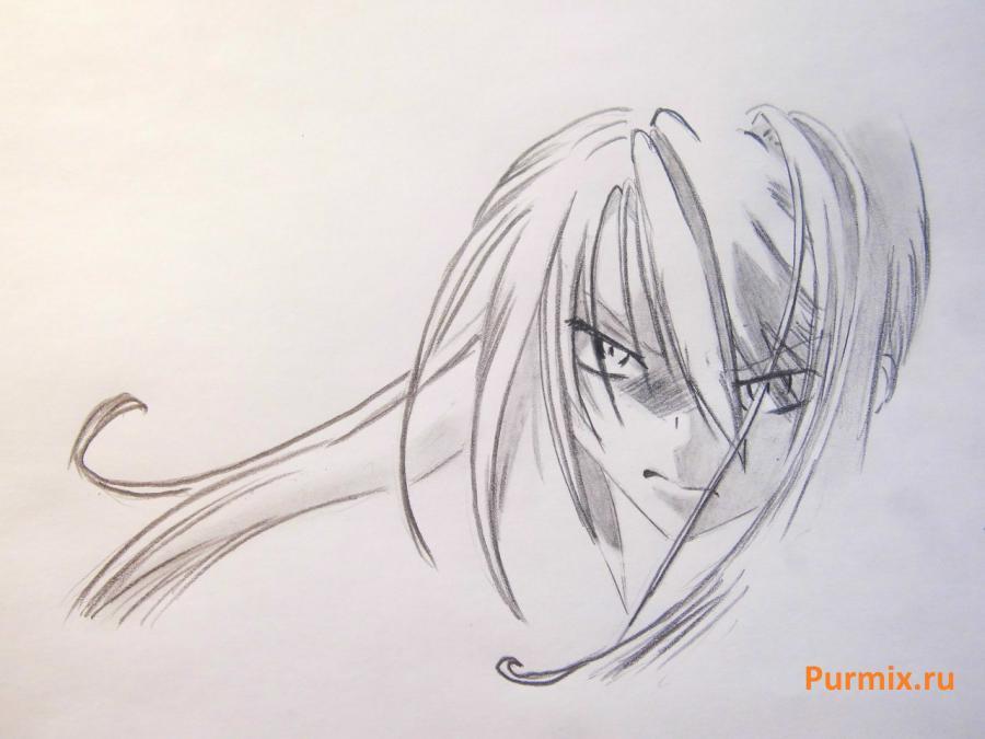 Как нарисовать Сироганэ из аниме Монохромный фактор карандашом