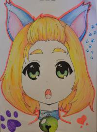 Рисунок собственного аниме персонажа