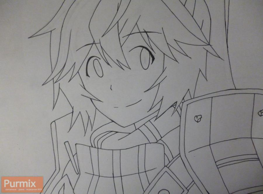 Рисуем Соджиро Сета из аниме Лог Горизонт