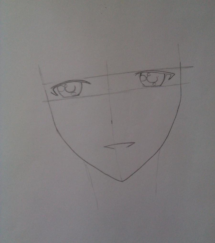Рисуем Соши Микецуками из аниме Пес,я и секретная служба карандашами - шаг 2