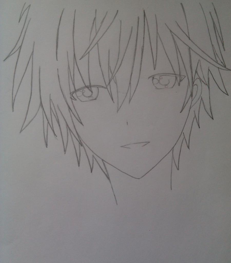 Рисуем Соши Микецуками из аниме Пес,я и секретная служба карандашами - шаг 3