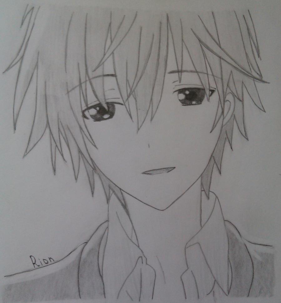 Как нарисовать Соши Микецуками из аниме Пес,я и секретная служба карандашами поэтапно