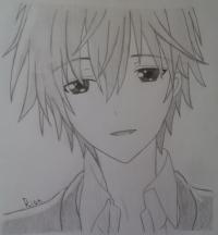 Как нарисовать Соши Микецуками из аниме Пес,я и секретная служба