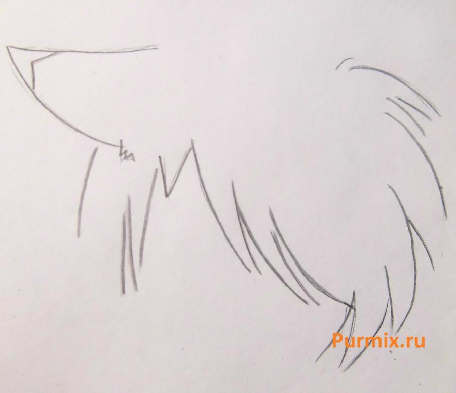 Рисуем стесняшку неко простым - шаг 8