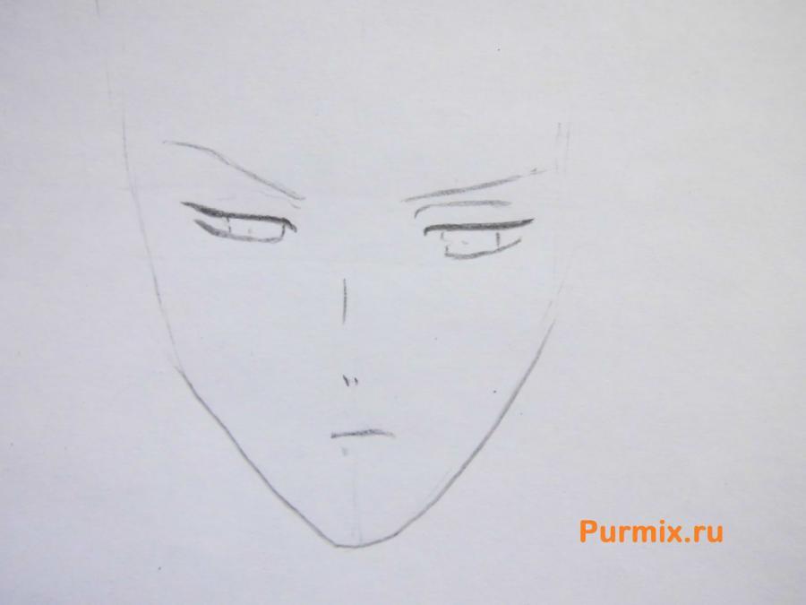 Рисуем Субару Сакамаки из аниме Дьявольские возлюбленные карандашами - шаг 2