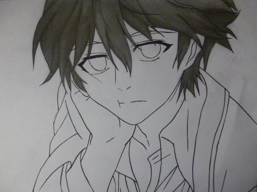 Рисуем Сю Оума из аниме Корона грешника