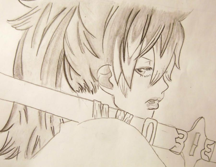 Рисуем Сюру Киригакурэ из аниме Blue Exorcist