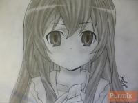 Тайгу Айсака из аниме Торадора карндашом