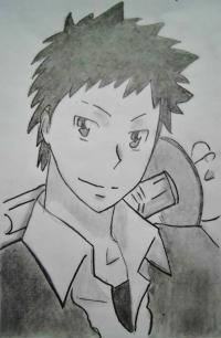 Фото Такэси Ямамото из аниме Реборн карандашом