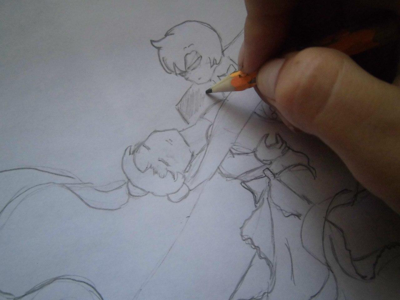 Рисуем танцующую аниме пару - фото 4