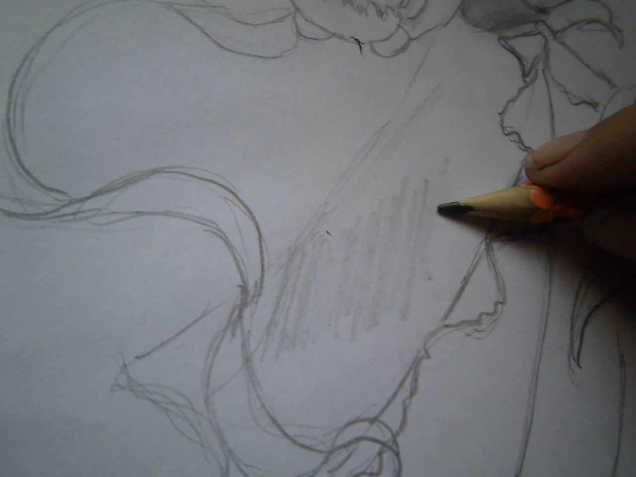 Рисунки про любовь карандашом