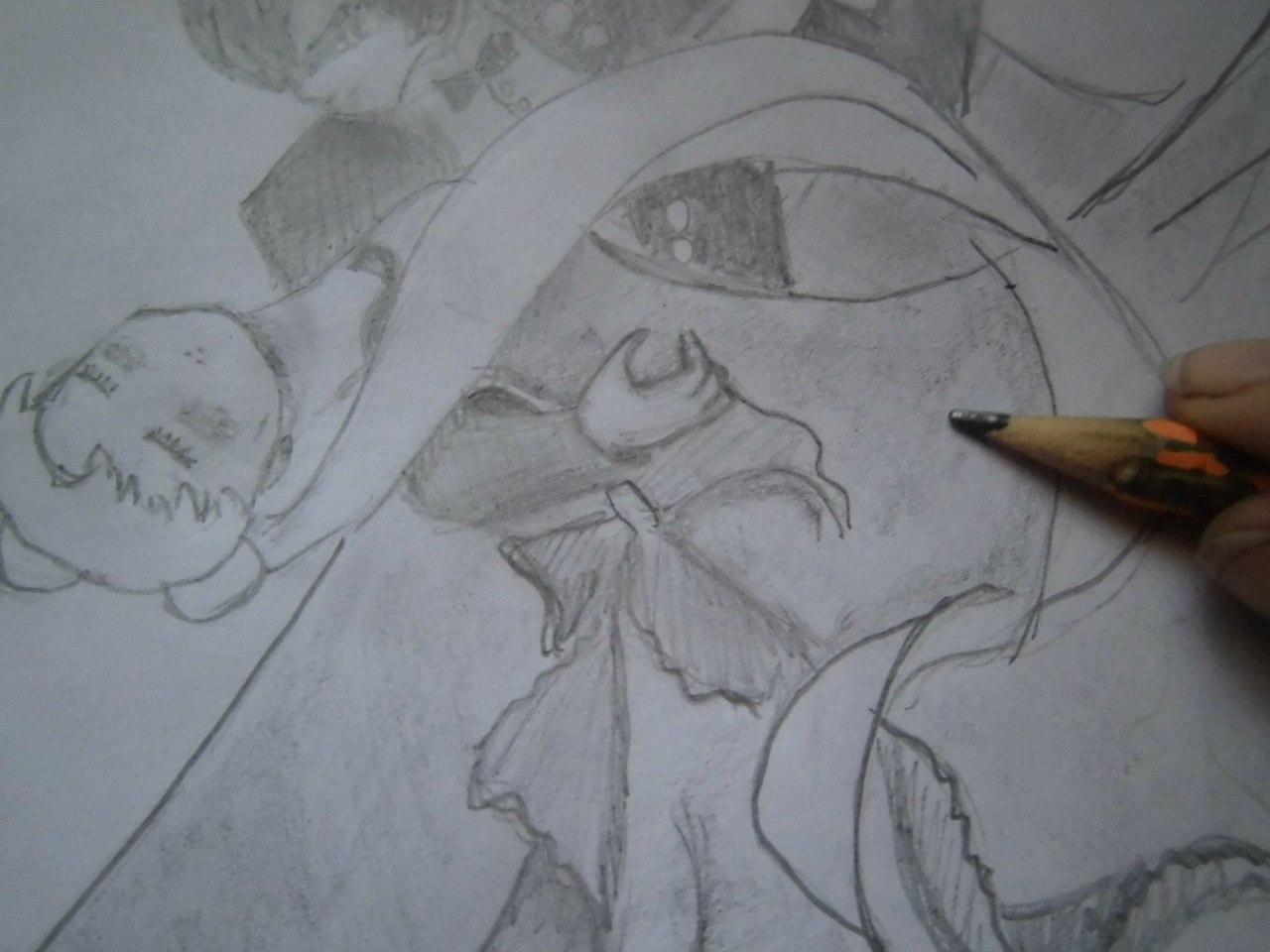 Рисуем танцующую аниме пару - фото 6