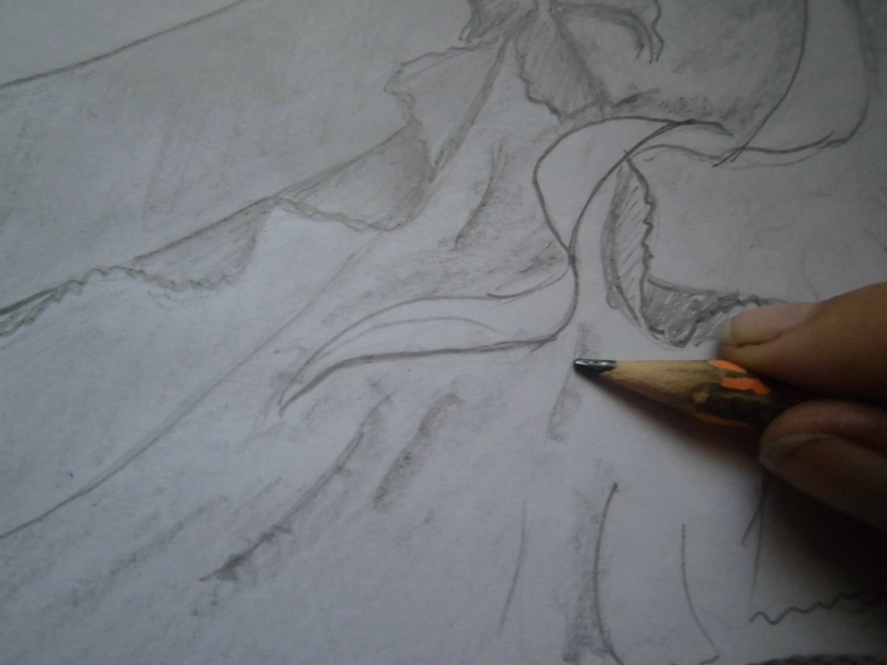 Рисуем танцующую аниме пару - фото 7
