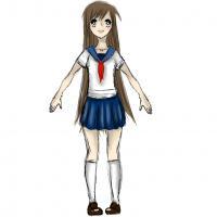 Фото тело школьницы в стиле аниме