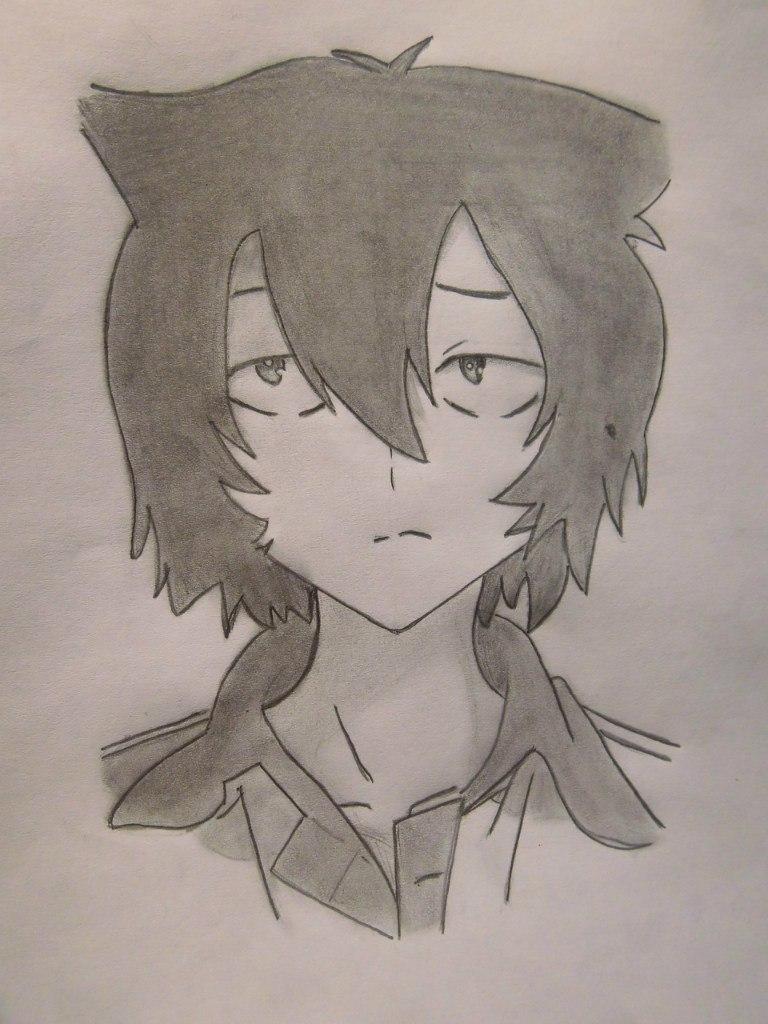 Рисуем Тихиро Фуруя из Санка Рэа