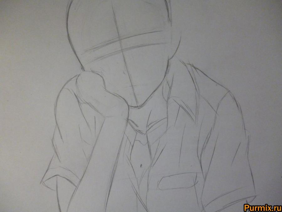 Рисуем Тома Камидзё аниме Некий научный Рейлган