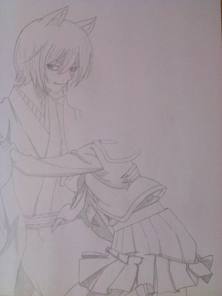 Рисуем Томое и Нанами из аниме Очень приятно, Бог