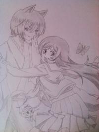 Фотография Томое и Нанами из аниме Очень приятно, Бог