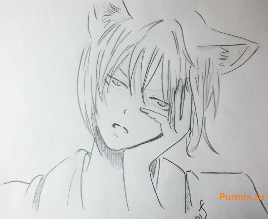 Рисуем Томоэ из аниме Очень приятно, Бог карандашами - шаг 5