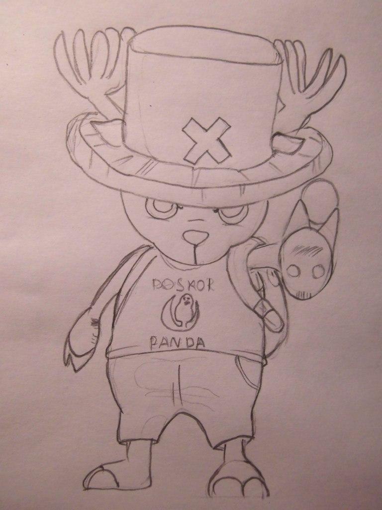 Рисуем Тони Тони Чоппера из One Piece