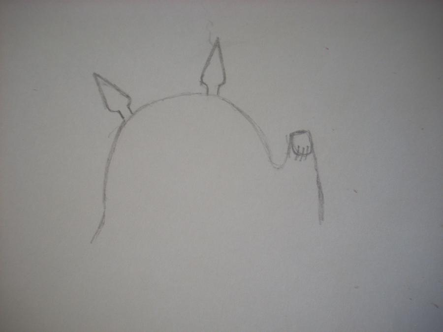 Рисуем Тоторо с Шариками из аниме Мой сосед Тоторо - шаг 1
