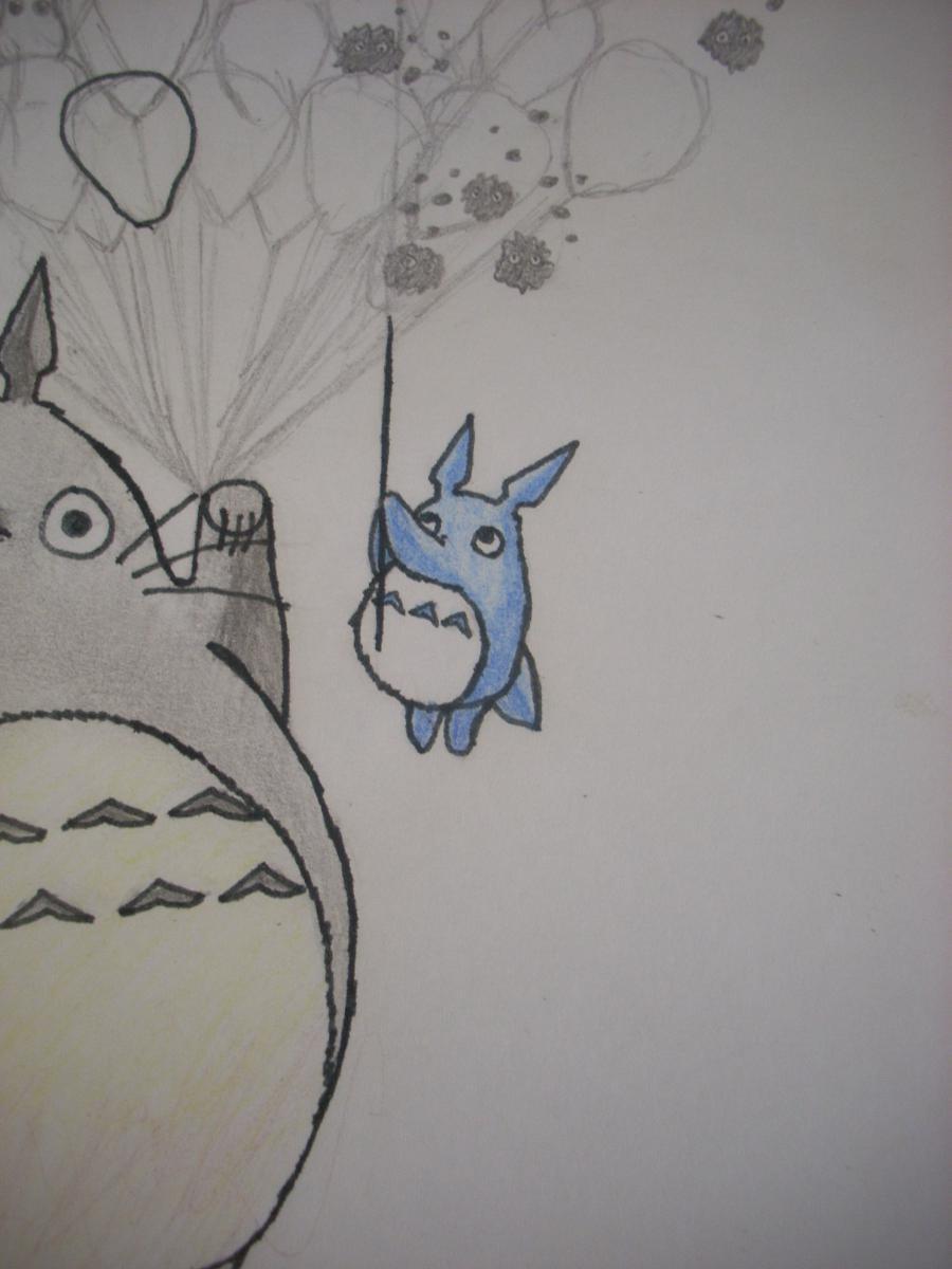Рисуем Тоторо с Шариками из аниме Мой сосед Тоторо - шаг 10