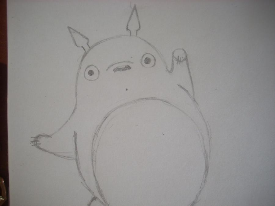 Рисуем Тоторо с Шариками из аниме Мой сосед Тоторо - шаг 3