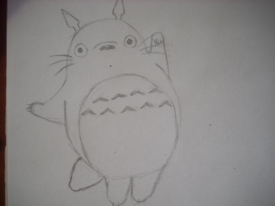 Рисуем Тоторо с Шариками из аниме Мой сосед Тоторо - шаг 4