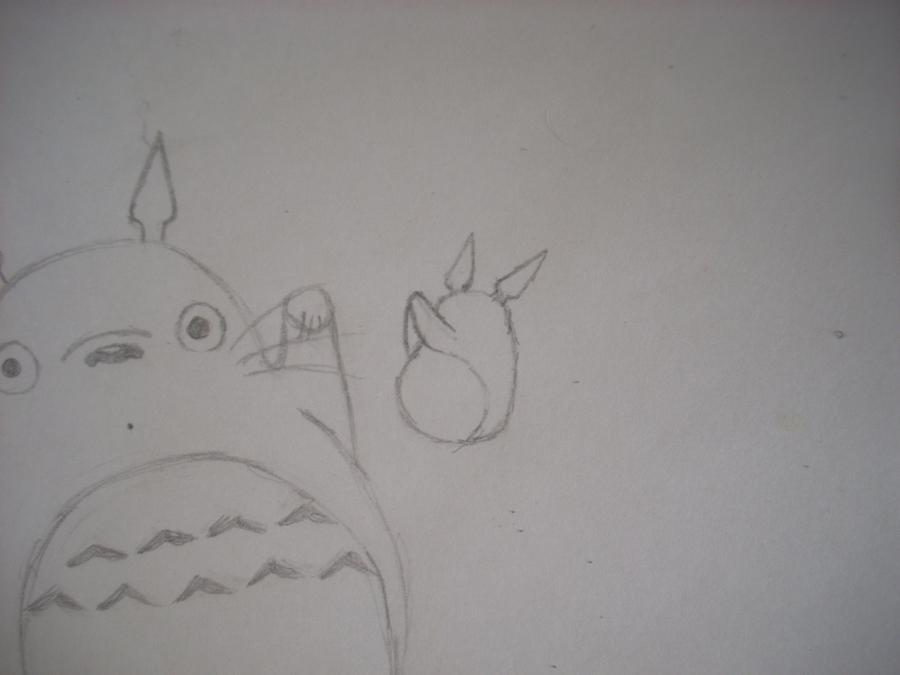 Рисуем Тоторо с Шариками из аниме Мой сосед Тоторо - шаг 5