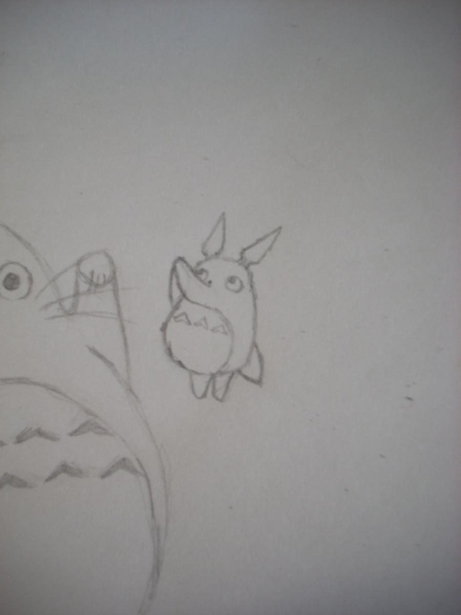Рисуем Тоторо с Шариками из аниме Мой сосед Тоторо - шаг 6