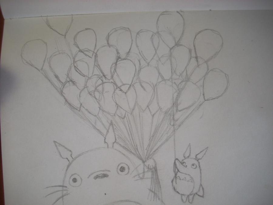 Рисуем Тоторо с Шариками из аниме Мой сосед Тоторо - шаг 7