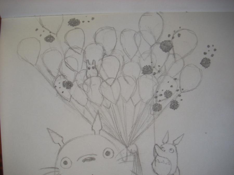 Рисуем Тоторо с Шариками из аниме Мой сосед Тоторо - шаг 8