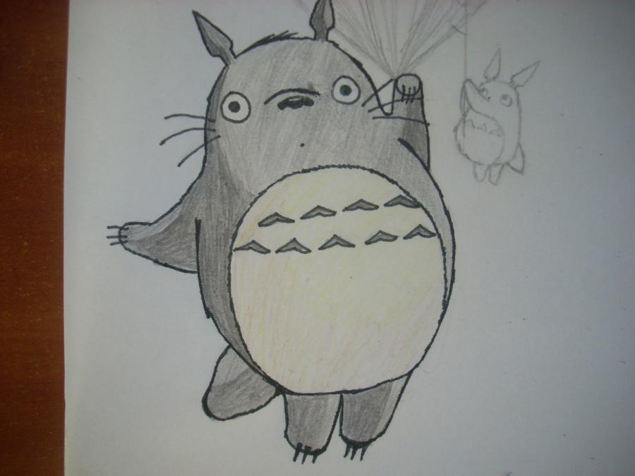 Рисуем Тоторо с Шариками из аниме Мой сосед Тоторо - шаг 9