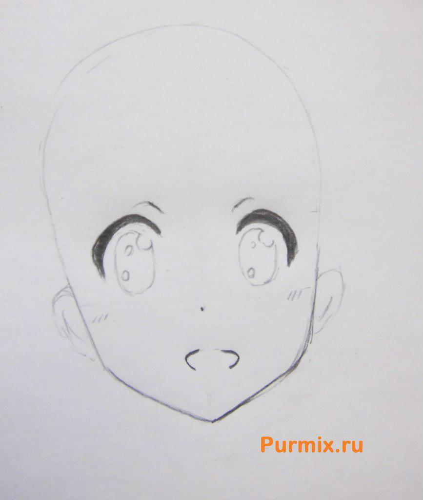 Рисуем маленькую Юи Хирасаву - фото 2