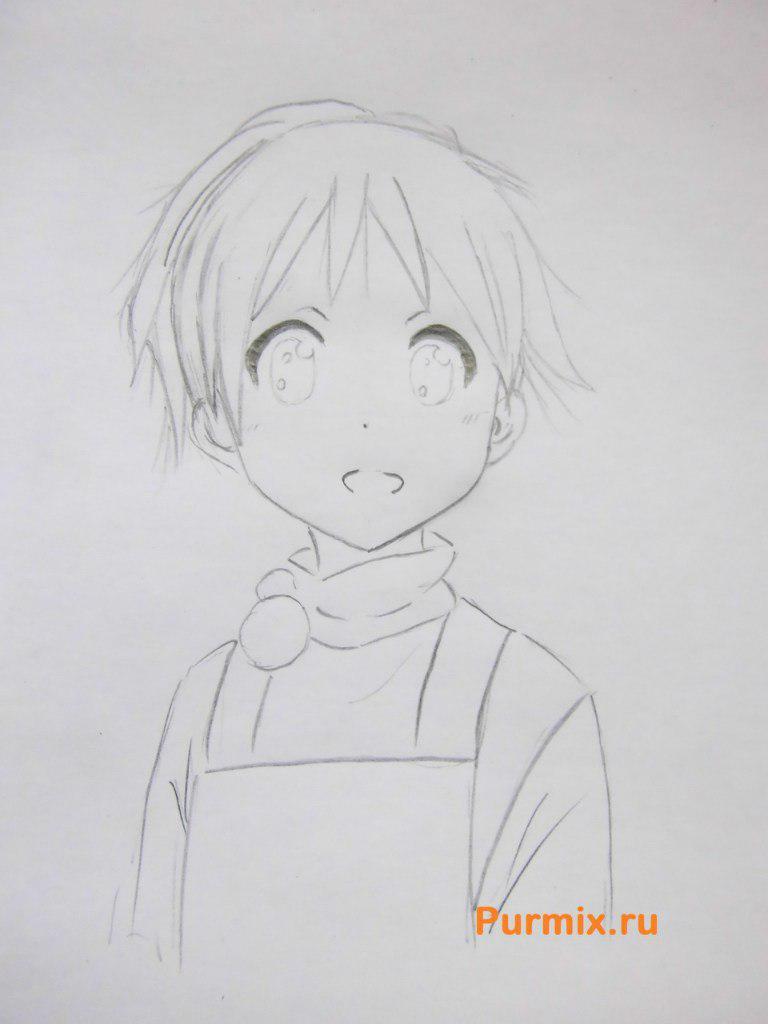 Рисуем маленькую Юи Хирасаву - фото 4