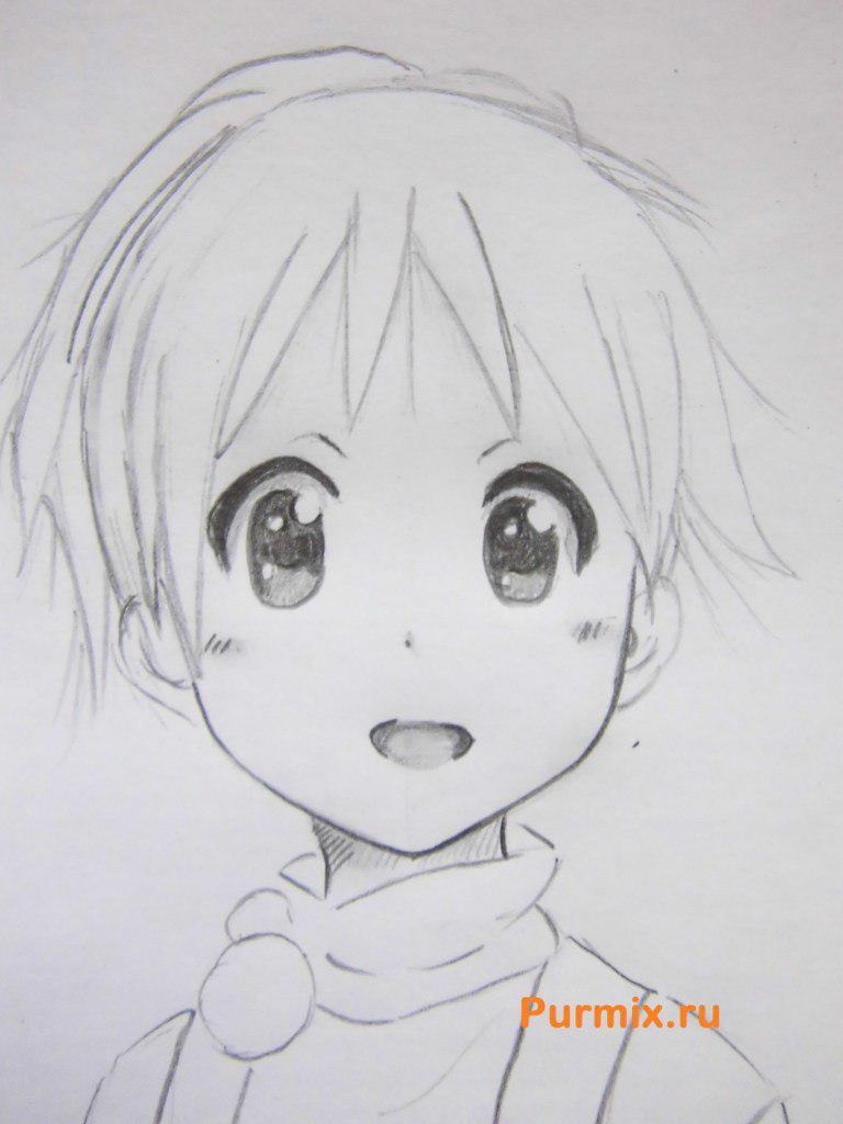 Рисуем маленькую Юи Хирасаву - фото 5