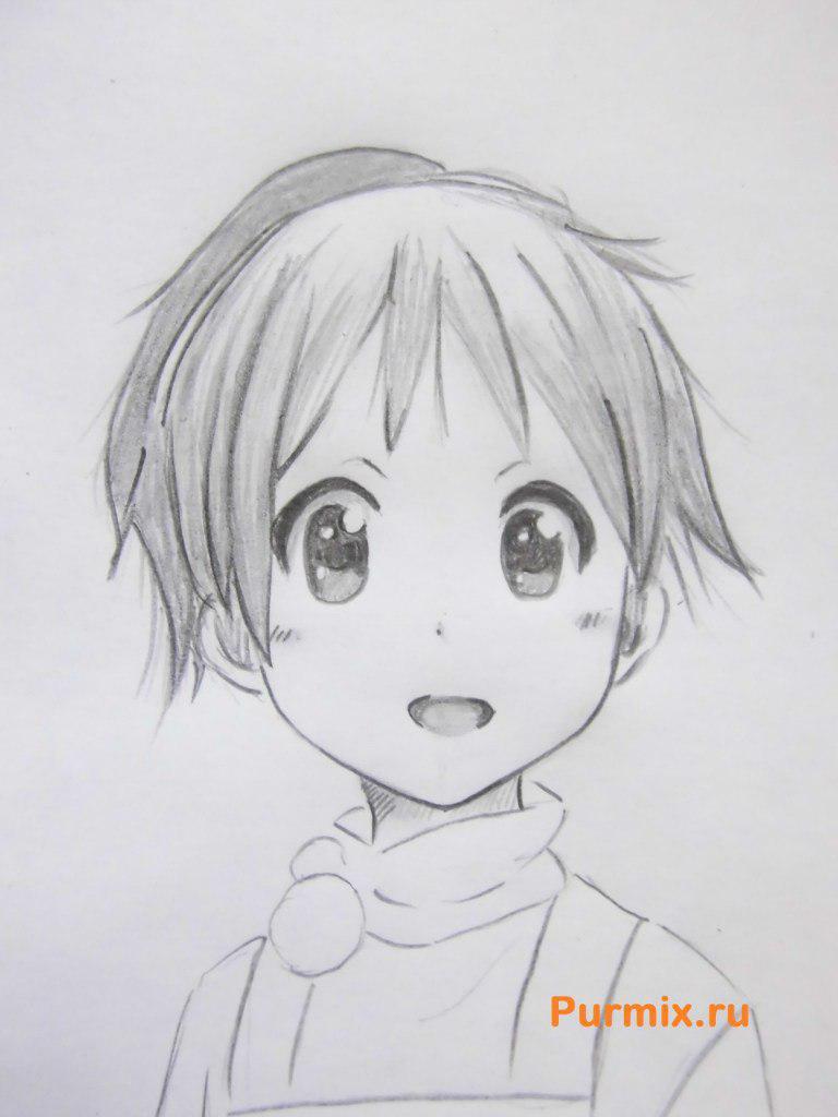 Рисуем маленькую Юи Хирасаву - фото 6