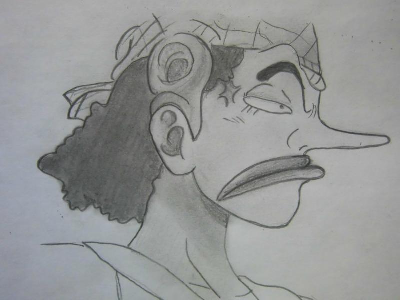 Рисуем Усоппа из аниме One Piece