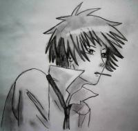 Как нарисовать Усуи Такуя из аниме Президент студсовета - горничная