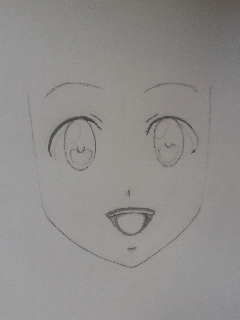 Рисуем Венди из аниме Fairy Tail простым - шаг 2