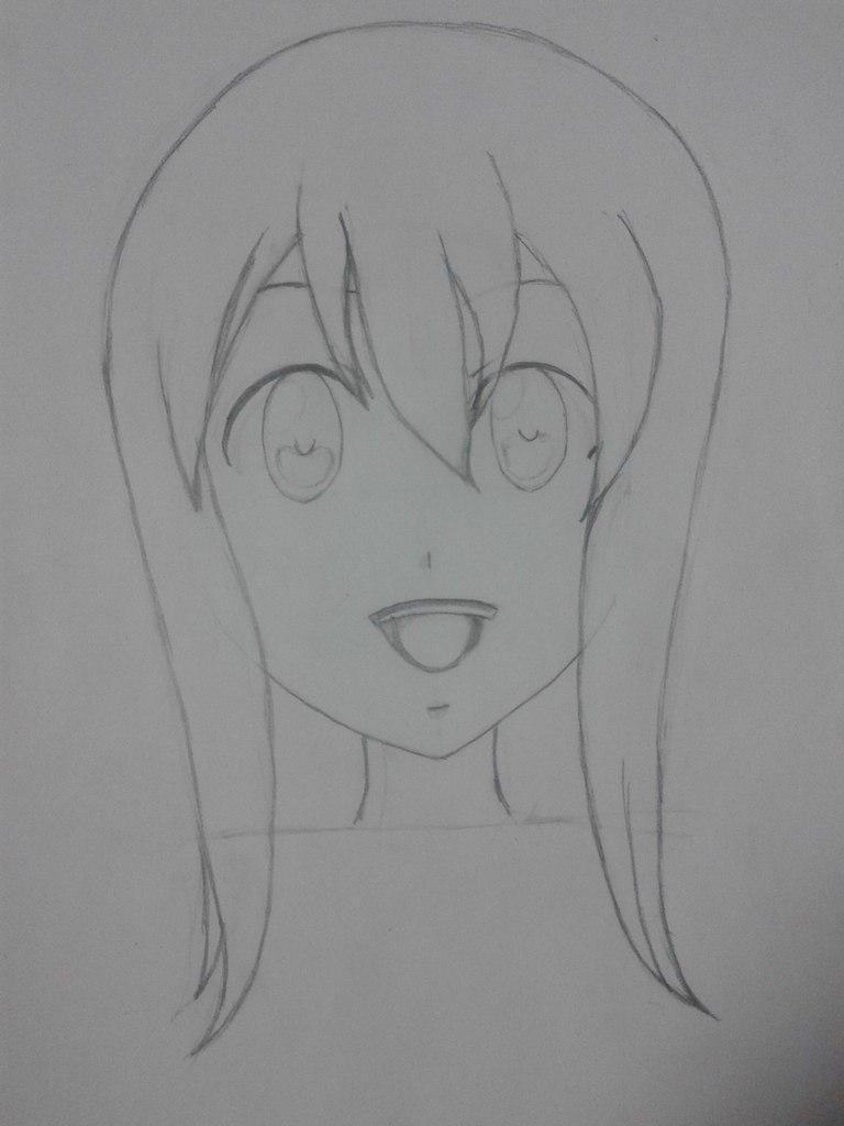 Рисуем Венди из аниме Fairy Tail простым - шаг 3