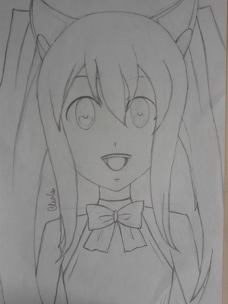 Рисуем Венди из аниме Fairy Tail простым - шаг 4