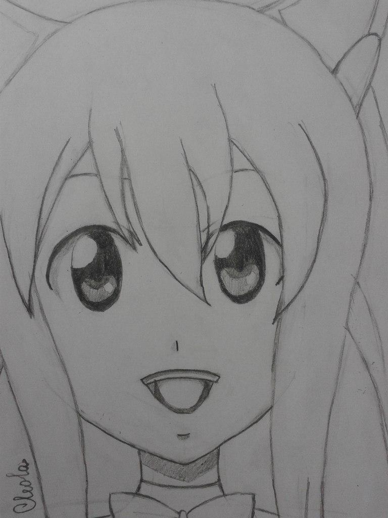 Рисуем Венди из аниме Fairy Tail простым - шаг 5