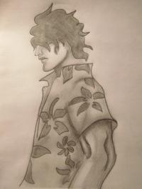 Ясутора Садо из аниме Блич карандашом