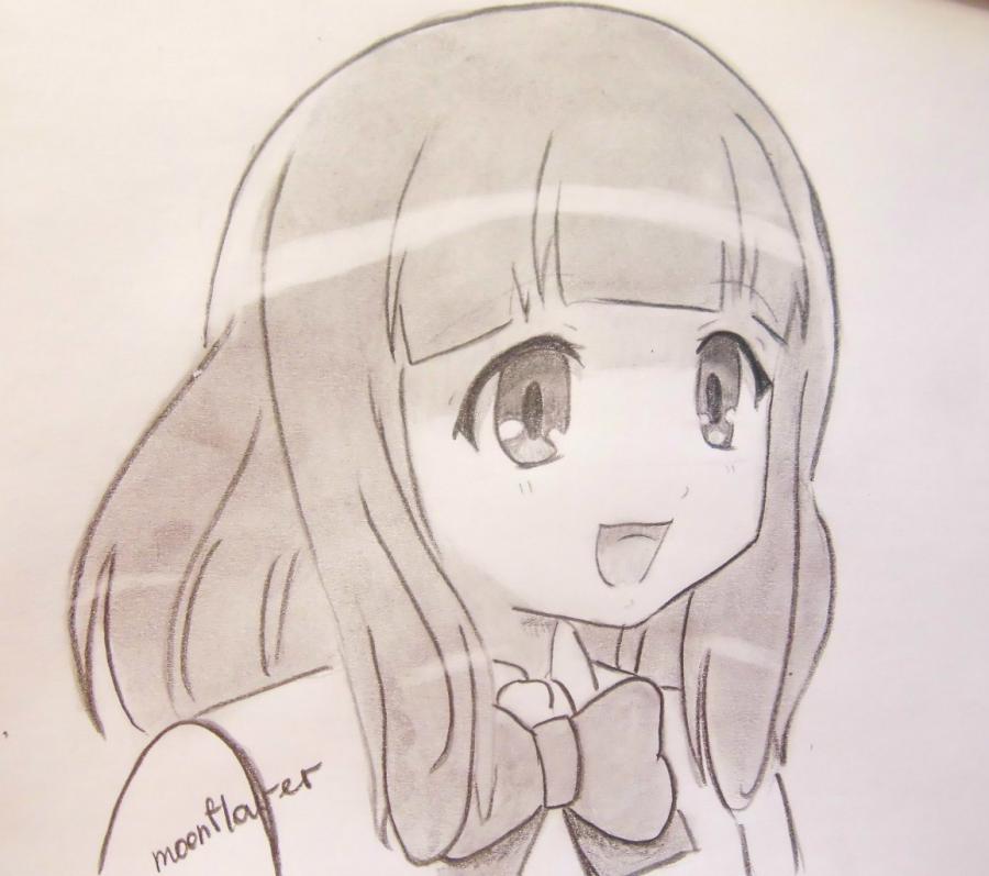 Kak Narisovat Yu Naruse Iz Anime Watamote Karandashom