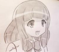 Рисунок Ю Нарусэ из аниме WataMote