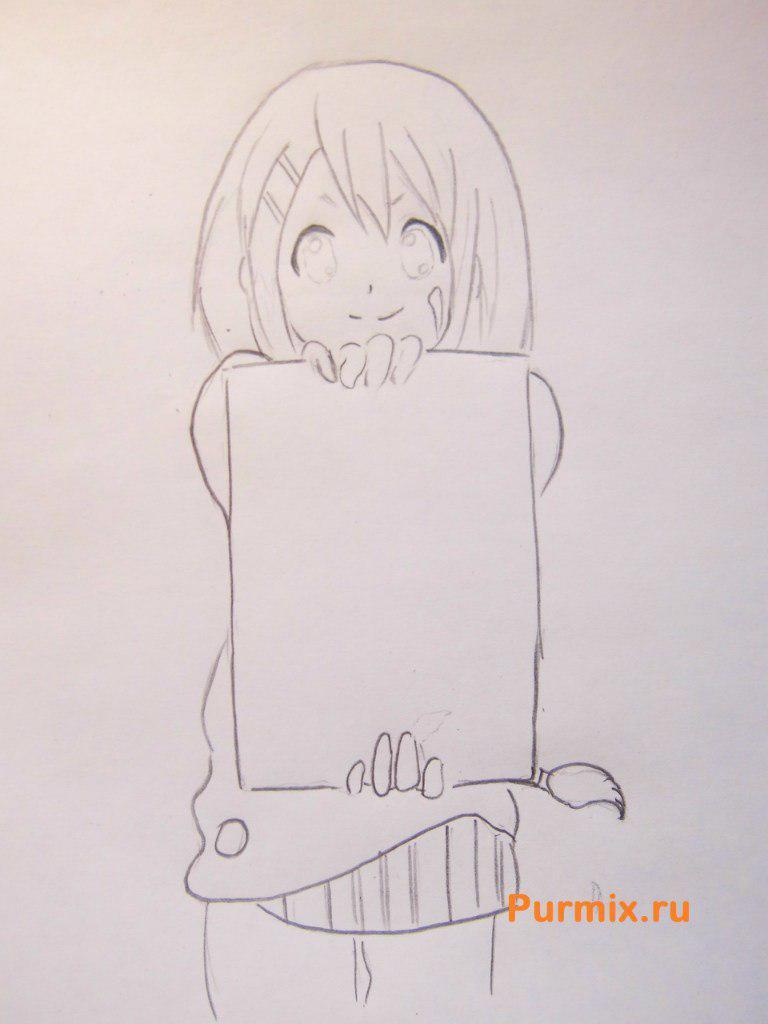 Рисуем Юи Хирасаву из аниме K-on - фото 4