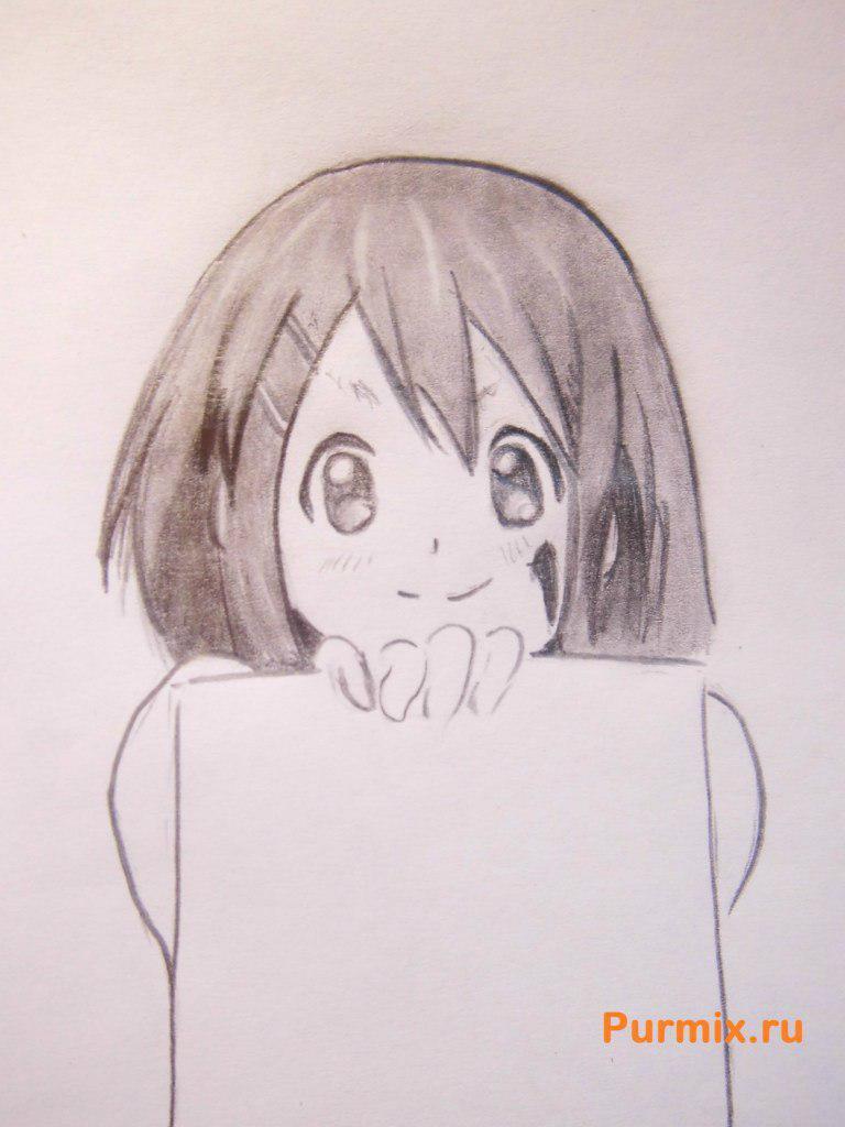 Рисуем Юи Хирасаву из аниме K-on - фото 6