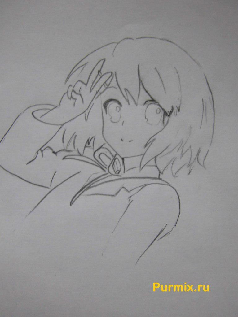 Рисуем Юи Хирасаву в полны рост - фото 4