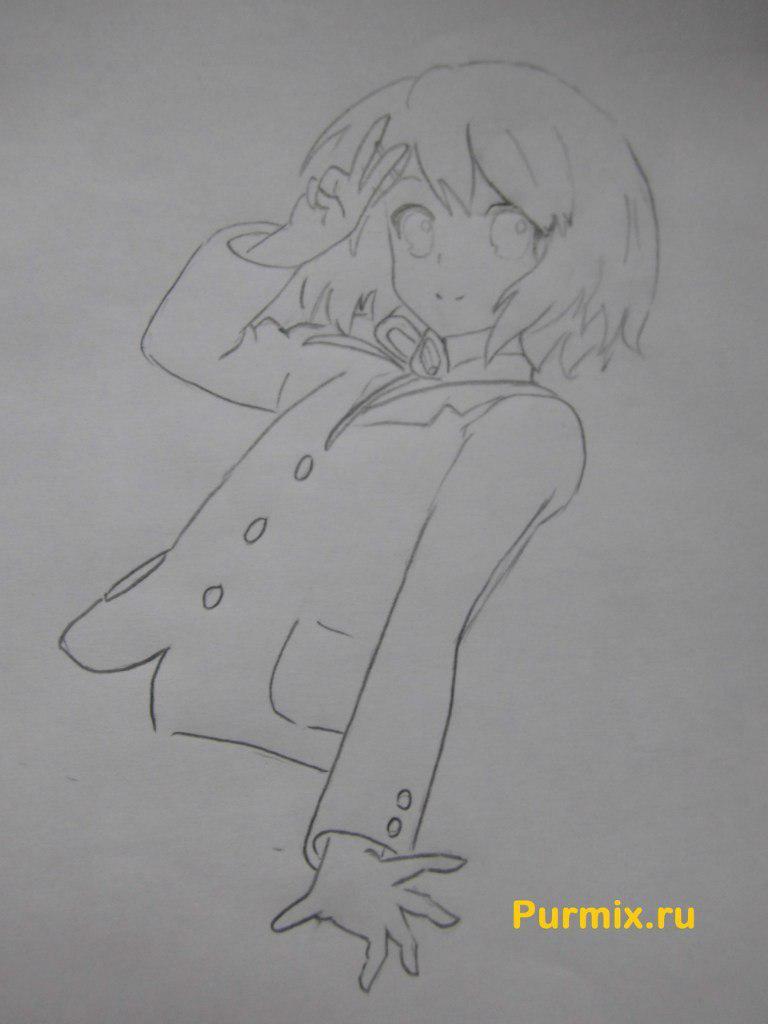 Рисуем Юи Хирасаву в полны рост - фото 5